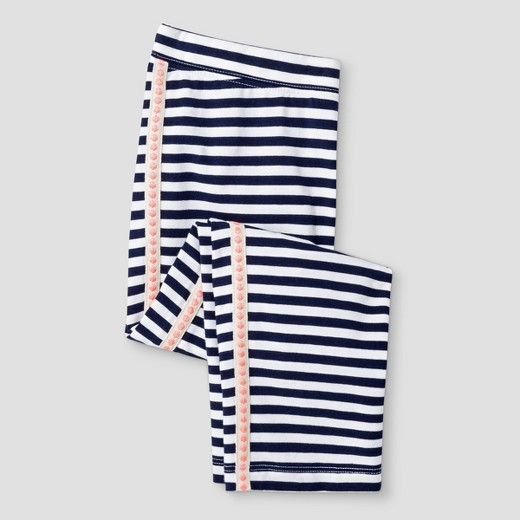Girls' Stripe With Side Tape Capri Leggings Pant - Cat & Jack ...