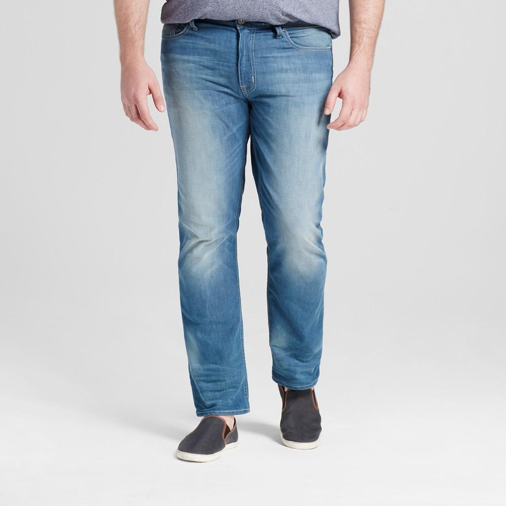 Mens Big & Tall Slim Straight Fit - Mossimo Supply Co. Medium Wash 52x30, Blue