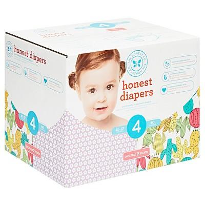 Honest Company Club Box Diapers, Little Flowers + Desert Flowers - Size 4 (60 ct)