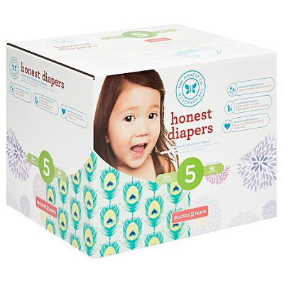 Honest Company Club Pack Diapers, Feathers + Bloom - Size 5 (50 ct)