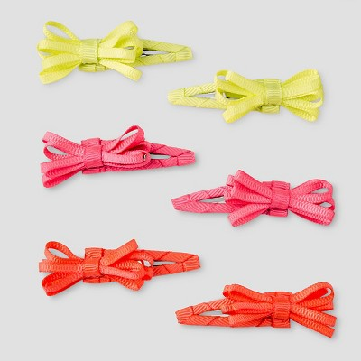 Girls' 6-Pack Bow Barrettes Cat & Jack™ - One Size