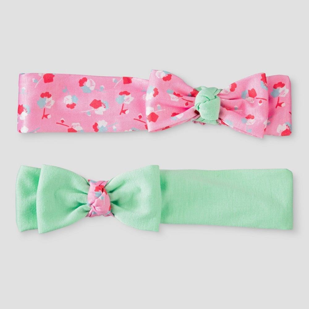 Toddler Girls 2pk Bow Headwraps Cat & Jack - One Size, Silver