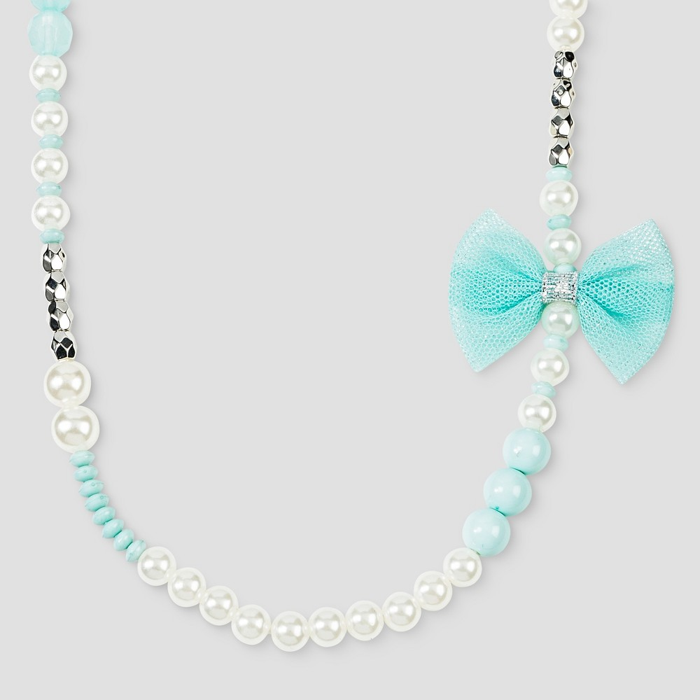 Toddler Girls Beaded Necklace Cat & Jack - Blue & White, Multi - Colored