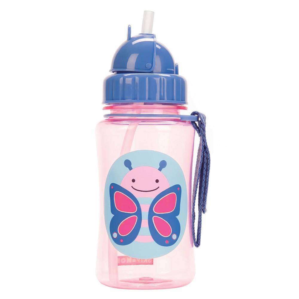 Skip Hop Zoo Straw Bottle - Butterfly, Pink