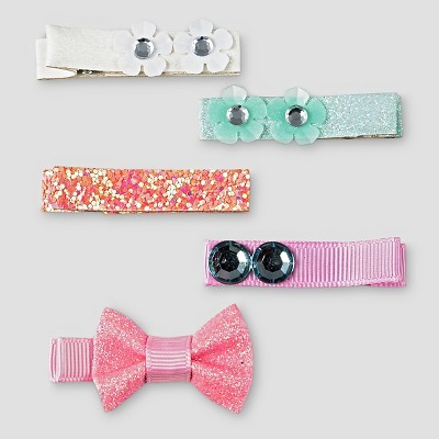 Girls' 5-Pack Clips Cat & Jack™ - Multi-colored
