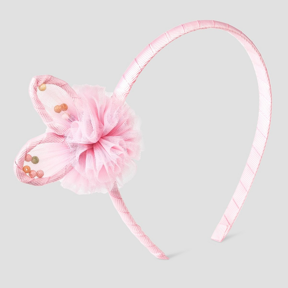 Toddler Girls Bunny Ears Tool Pom Headband Cat & Jack - Pink