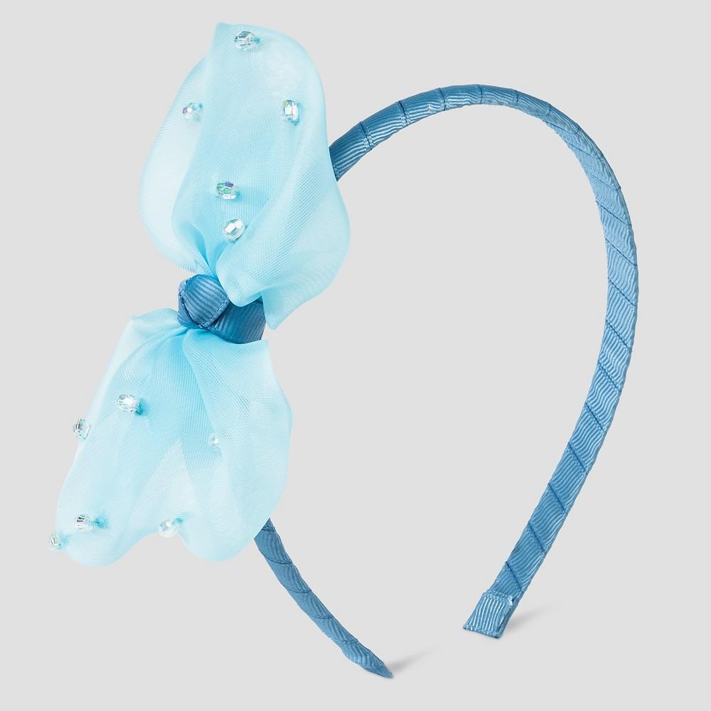 Toddler Girls Bow Headband Cat & Jack - Blue