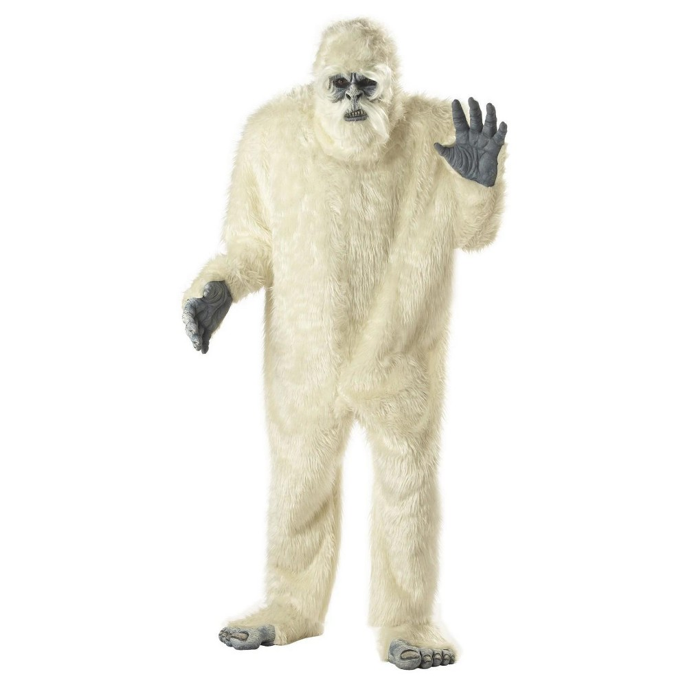 Adult Abominable Snowman Costume - One Size Fits Most, Mens, White