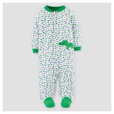 Baby Boys' Alligator Cotton Sleep N' Play - Just One You™ Made by Carter's® Green 9M