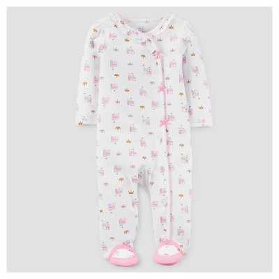 Baby Girls' Castles and Crowns Cotton Sleep N' Play - Just One You™ Made by Carter's® White 3M