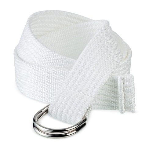 Women's Web D Ring Belt - White - Mossimo Supply Co.™ - image 1 of 2