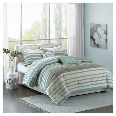 Audra Cotton Comforter Set (King/California King)5-Piece - Aqua