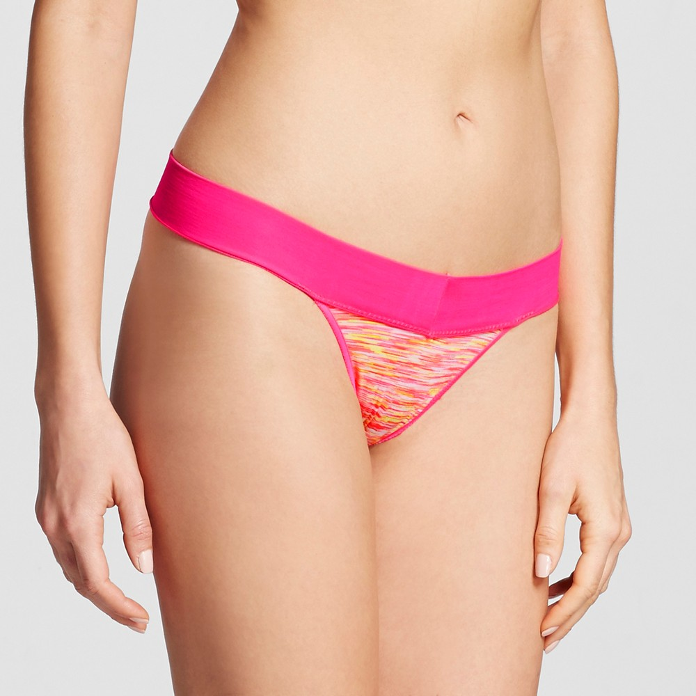Womens Seamless Thong - Xhilaration - Pink Rainbow Spacedye L