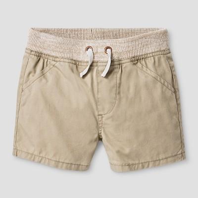 Baby Boys' Twill Shorts - Cat & Jack™ Vintage Khaki 0-3 M