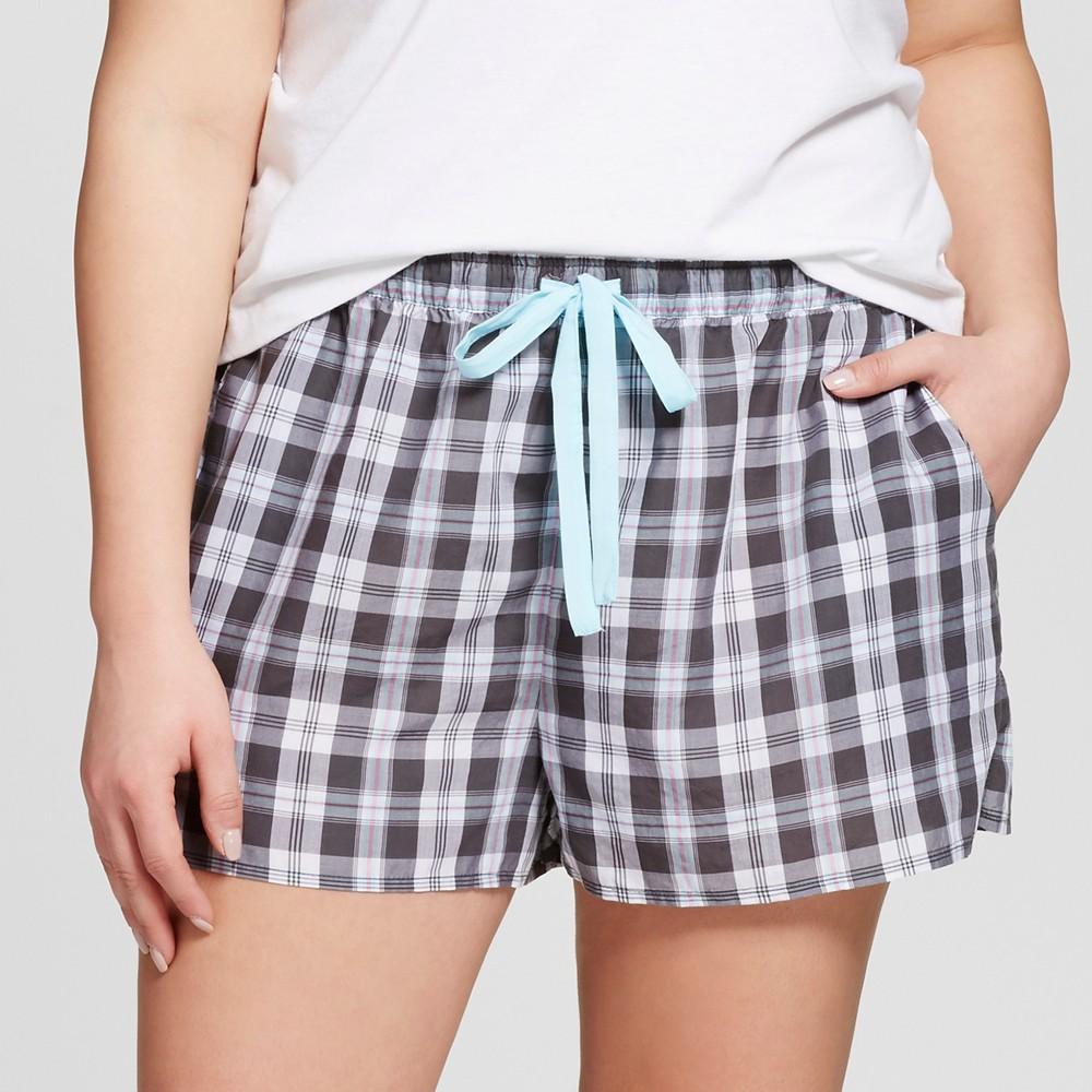 Womens Plus Size Tencel Pajama Shorts - Xhilaration - Charcoal 3X, Gray