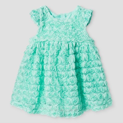 Baby Girls' Soutache Dress - Cat & Jack™ Aqua 3-6 Months