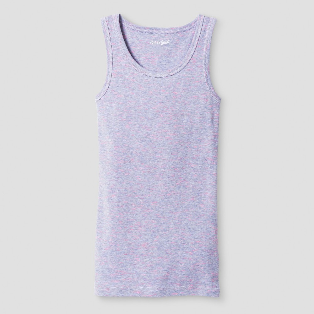 Plus Size Girls Favorite Tank Top - Cat & Jack Purple Texture M Plus