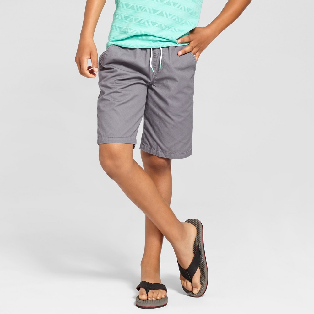 Boys Pull On Playwear Shorts - Cat & Jack Proper Gray M