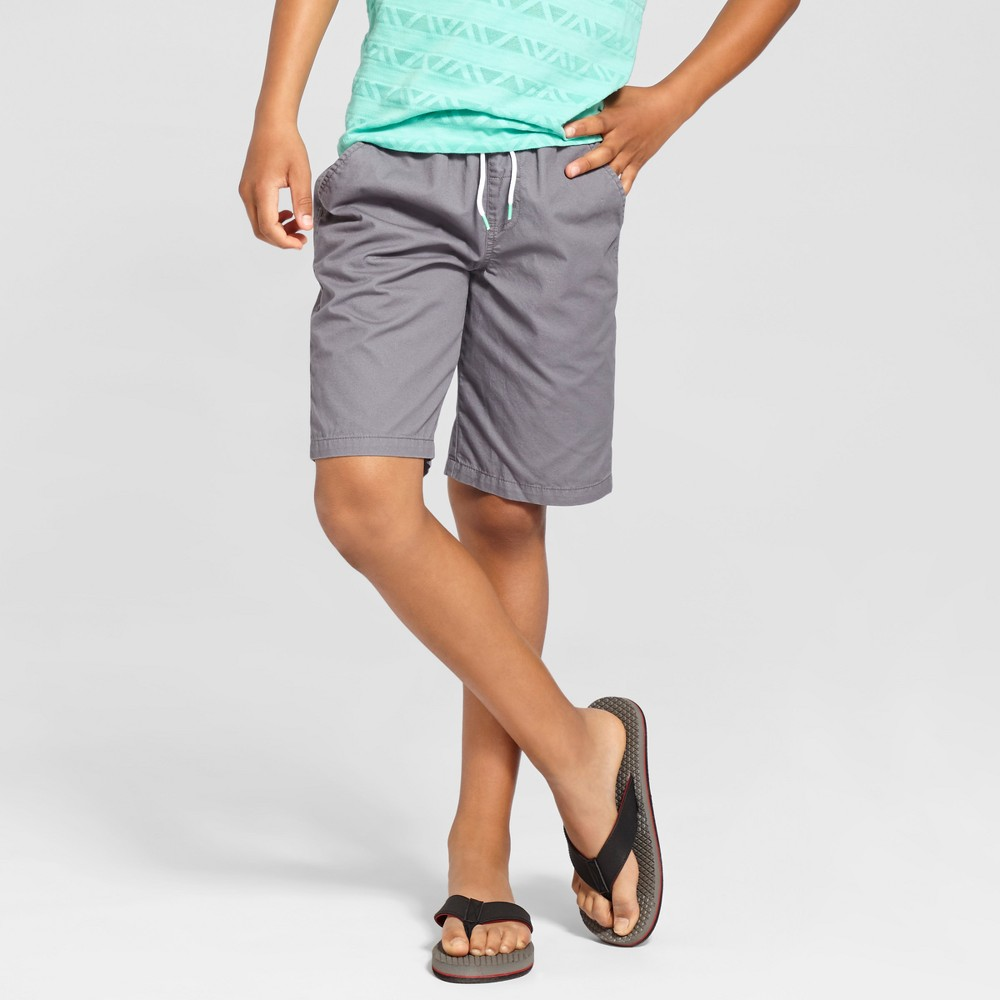 Boys Pull On Playwear Shorts - Cat & Jack Proper Gray L
