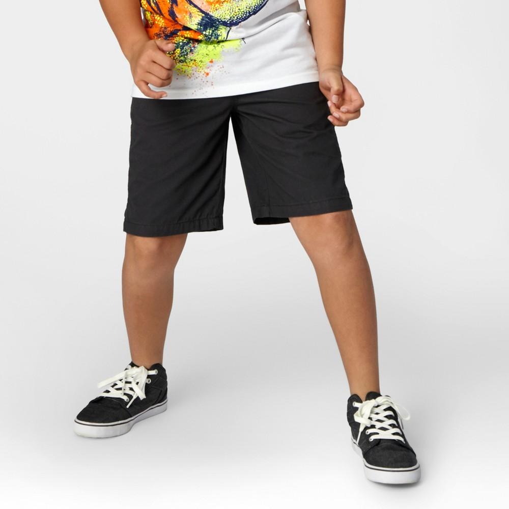 Boys Pull On Playwear Shorts - Cat & Jack Charcoal (Grey) L