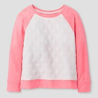 Toddler Girls' Long Sleeve Sweatshirt Cat & Jack -Almond Cream. opens in a new tab.