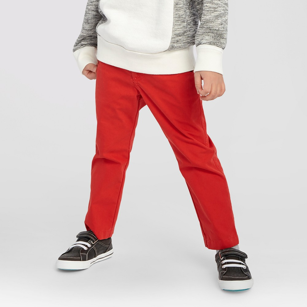 Toddler Boys' Dr. Seuss Belted Chino Pants Genuine Kids from OshKosh – Red 5T, Toddler Boy's