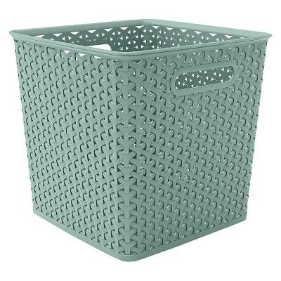 Y-weave basket bin - 11  - Pale Mint - Room Essentials™