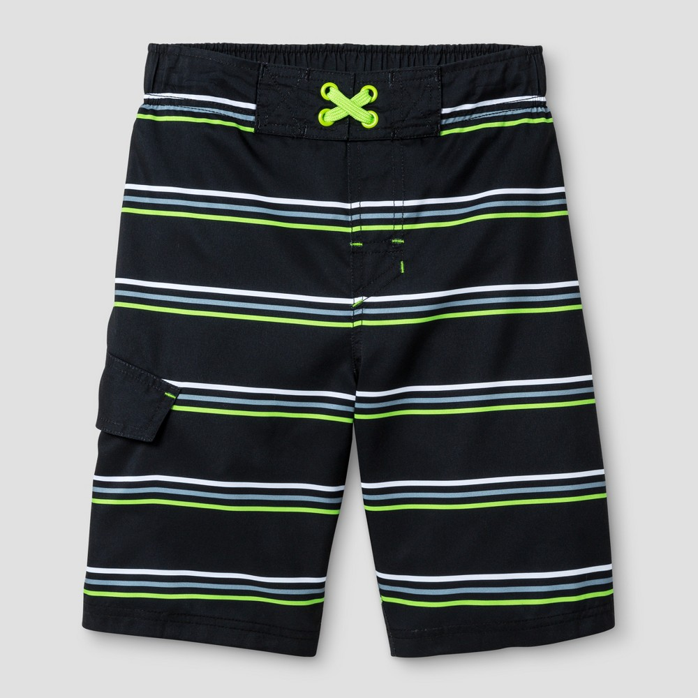 Boys Swim Trunks - Cat & Jack Black M - Husky, Size: M Husky