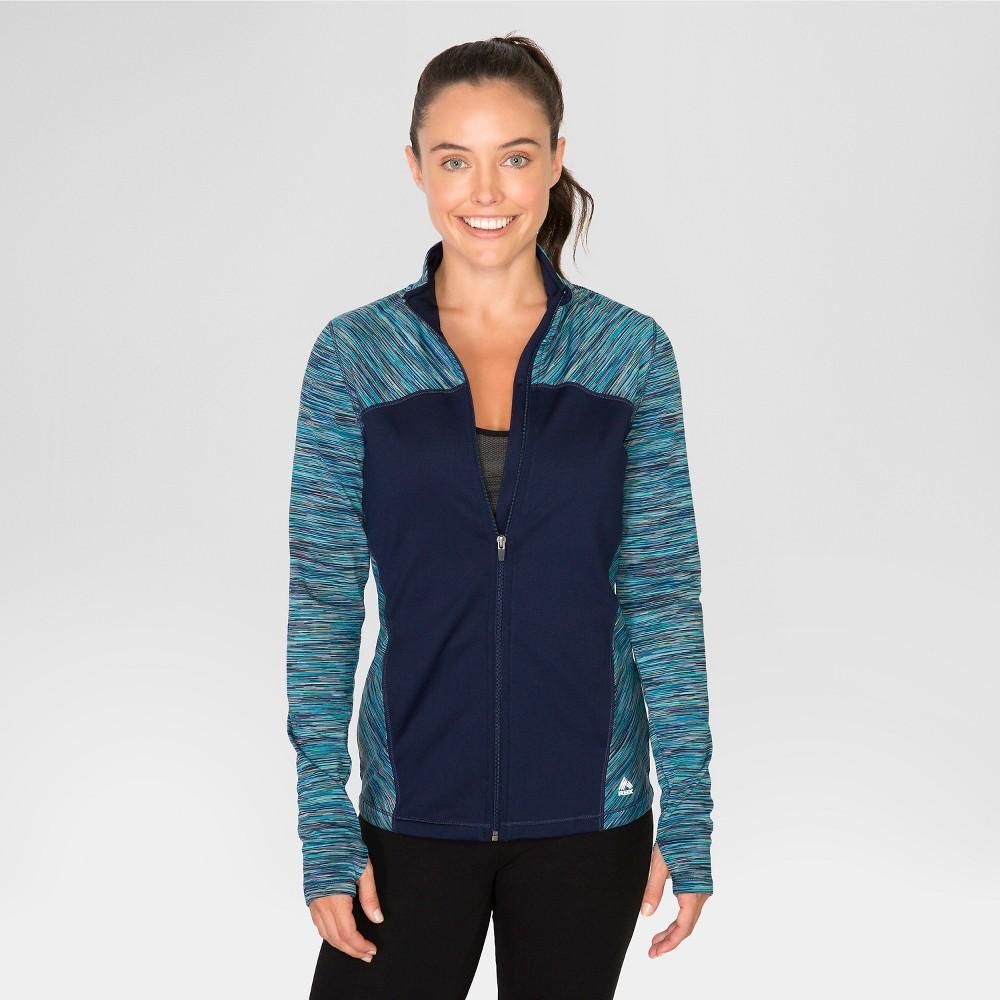 Women's Brushed Mock Neck Jacket Navy Blue S - Rbx