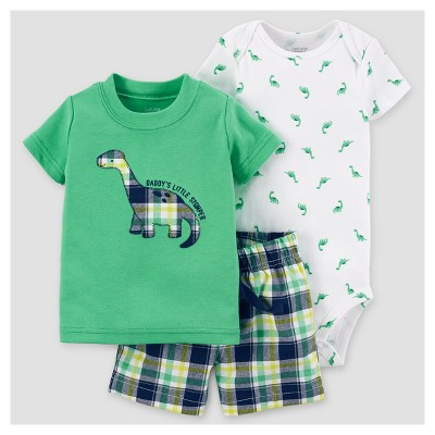 Baby Boys' Dino Shorts Set - Just One You™ Made by Carter's® Green 6M