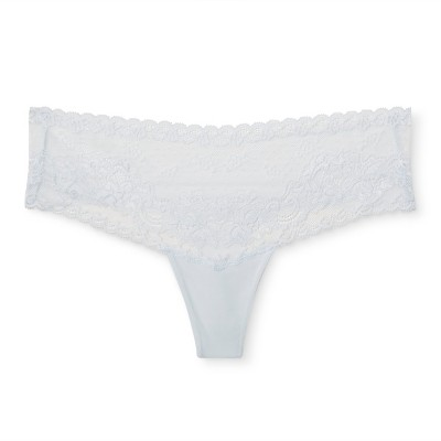 Women's Lace Thong - Gilligan & O'Malley™ - Airy Blue M