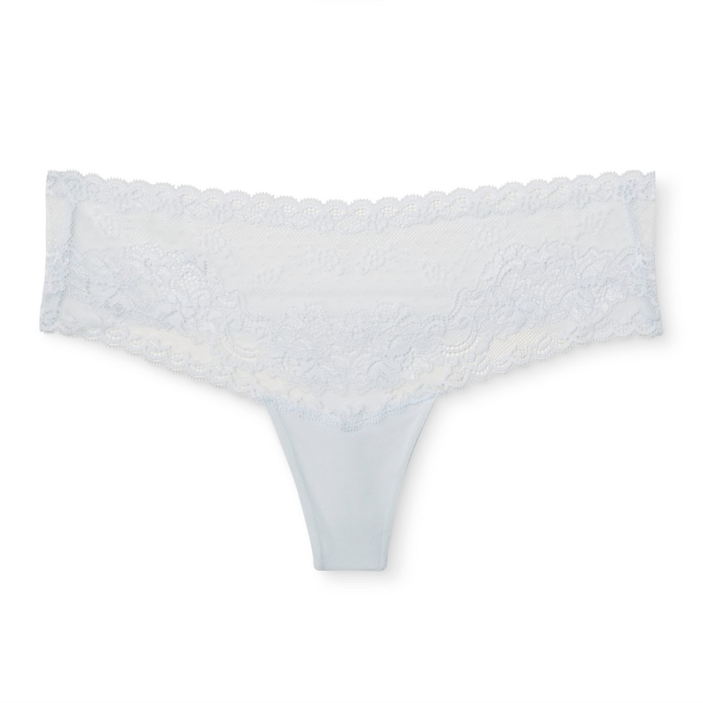 Womens Lace Thong - Airy Blue M