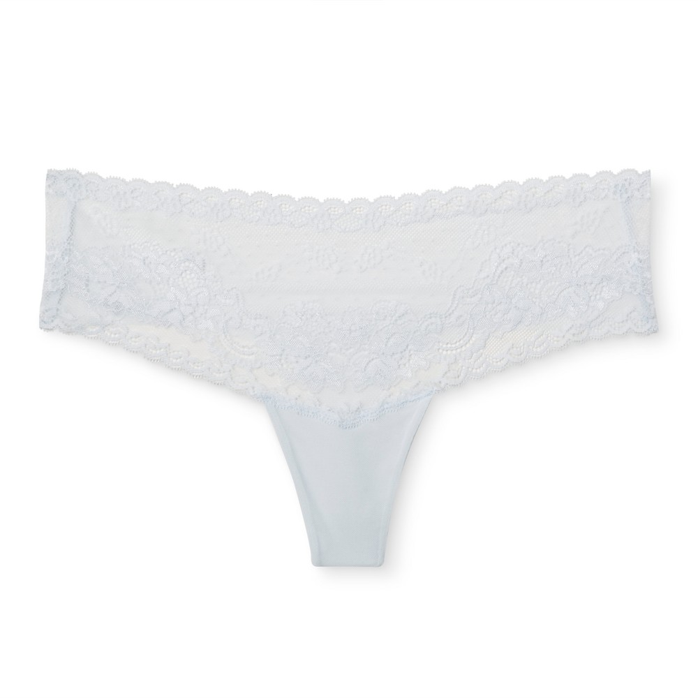 Womens Lace Thong - Airy Blue XS