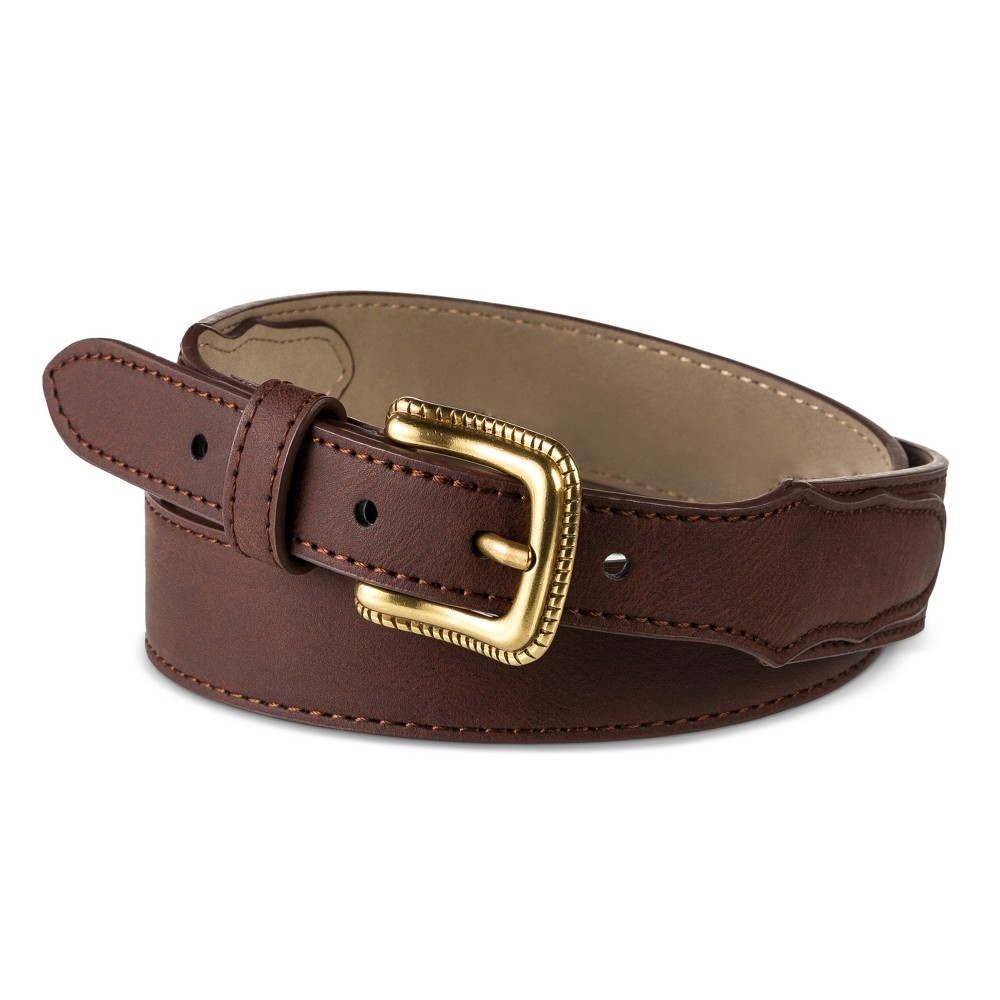 Womens Narrow Casual Western Belt - Mossimo Supply Co. Brown, Size: Large