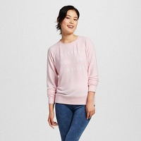 Women's Weekends are for Cuddling Brushed Cozy Pullover Sweatshirt Blush Pink - Grayson Threads (Juniors'). opens in a new tab.