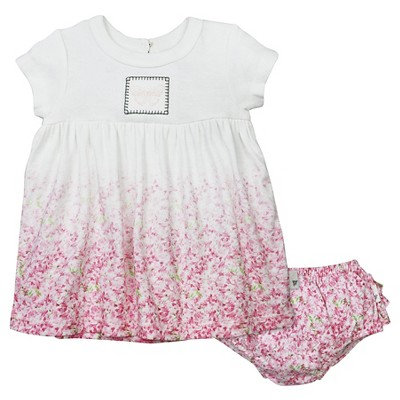Baby Girls' Ombre Waterlily Dress and Diaper Cover Set Cloud 0-3 M - Burt's Bees Baby®