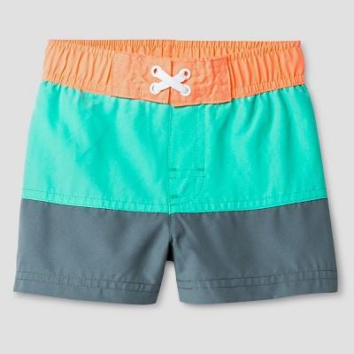 Baby Boys' Colorblock Swim Trunk - Cat & Jack™ Aqua 18M