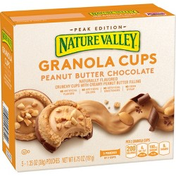 Nature  Valley Granola Cups Peanut Butter Chocolate - 5ct 6.75oz