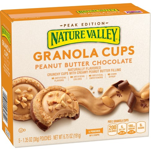 Nature  Valley Granola Cups Peanut Butter Chocolate - 5ct 6.75oz - image 1 of 4