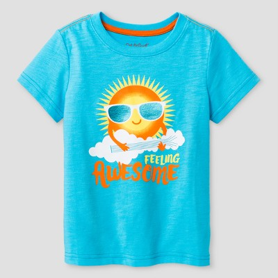 Baby Boys' Sun Graphic T-Shirt - Cat & Jack™ Turquoise Gaiety 18M