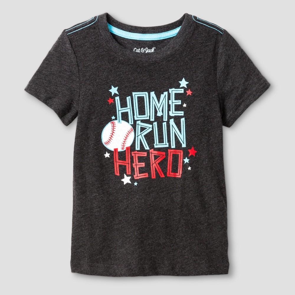 Baby Boys Baseball Graphic T-Shirt - Cat & Jack Black 12M, Size: 12 M