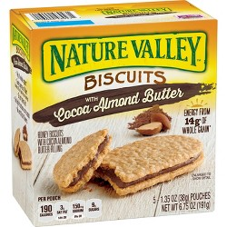 Nature Valley Biscuits Cocoa Almond Butter - 5ct 6.75oz