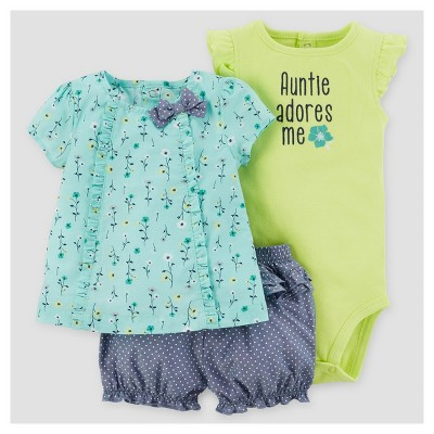 Baby Girls' Dot Shorts Set - Just One You™ Made by Carter's® Mint Green 9M