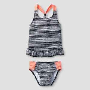 Tankini Sets Cat & Jack Black/white 6X, Toddler Girl