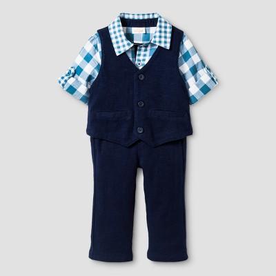 Baby Boys' 3pc Shirt, Vest, Pants Set - Cat & Jack™ Navy Voyage 0-3 M