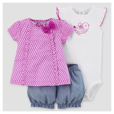 Baby Girls' Chambray Shorts Set - Just One You™ Made by Carter's® Lavender 6M