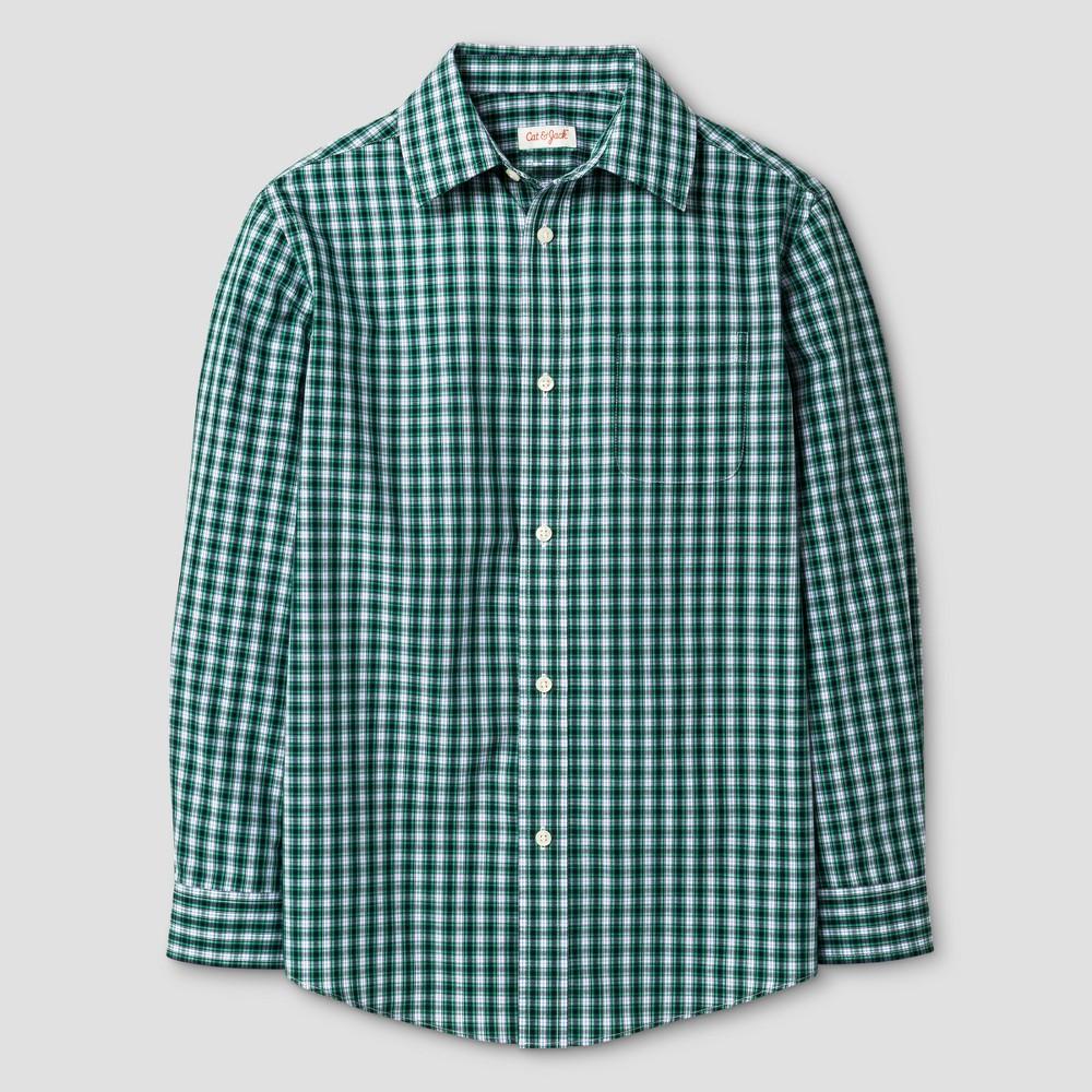 Boys Button Down Shirt - Cat & Jack Green Blue Checks Xxl, Blue Green