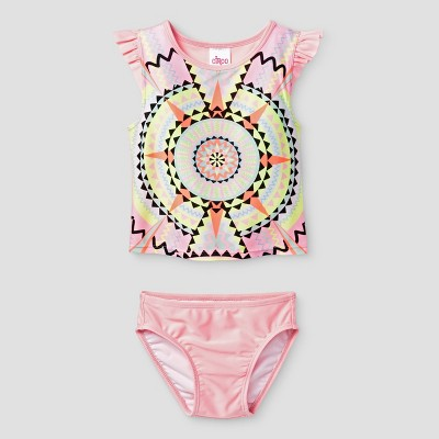 Baby Girls' Rash Guard & Bottoms Set Cat & Jack™ - Pink 9 M