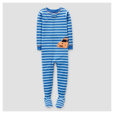 Toddler Boys' Racecar Footed Pajama - Just One You™ Made by Carter's® Blue Stripe 18M