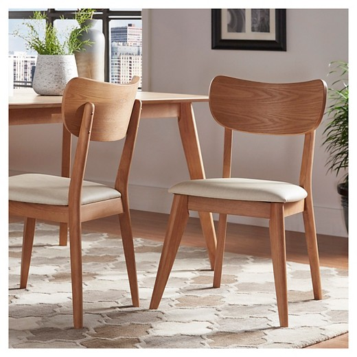 Parker Mid Century Dining Chair (Set of 2) - Inspire Q - Parker Mid Century Dining Chair (Set Of 2) - Walnut - Inspire Q